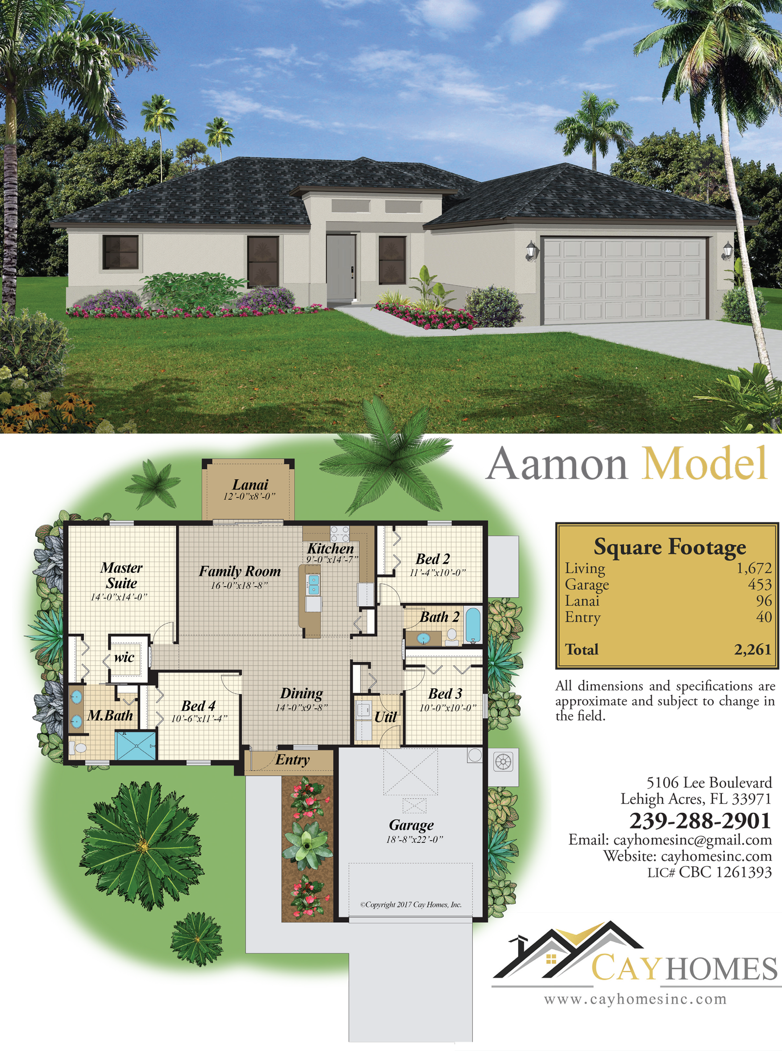 The Aamon Plan | Cay Homes | Lehigh Acres Builder