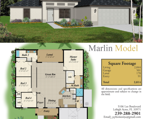 the Marlin Model Home by Cay Homes in Lehigh