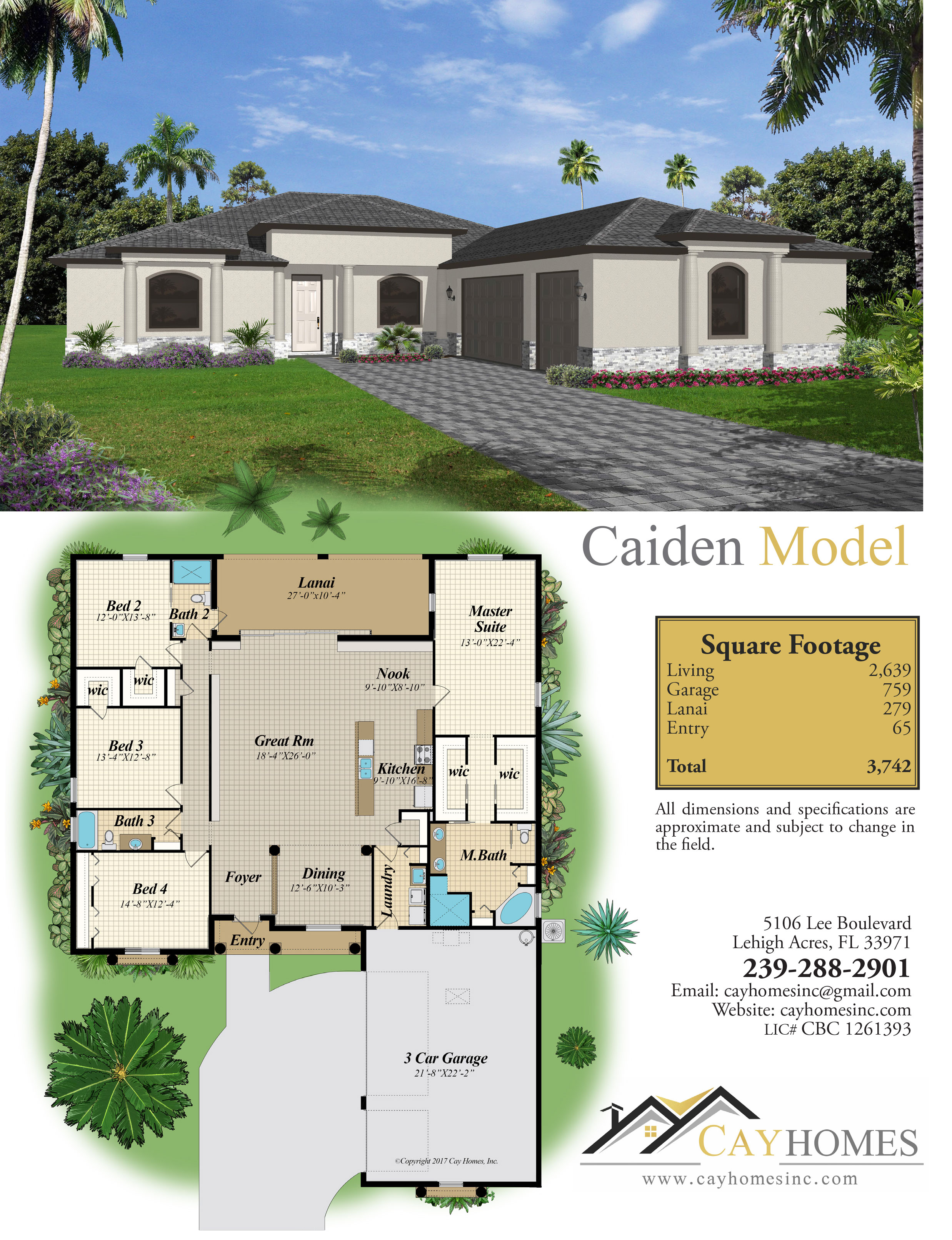 The Caiden Home Brochure, a Model Home by Cay Homes, Inc.