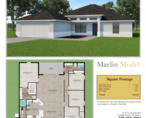 The Marlin Model by Cay Homes in Lehigh Acres